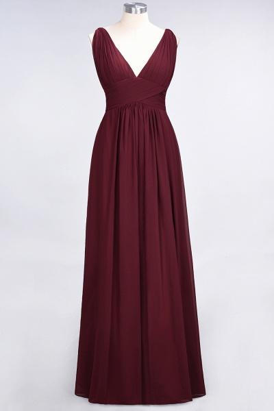 A-Line Chiffon V-Neck Sleeveless Floor-Length Bridesmaid Dress with Ruffle_35