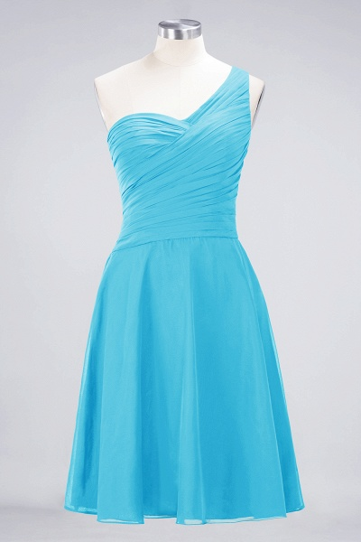 A-Line Chiffon One-Shoulder Sweetheart Sleeveless Knee-Length Bridesmaid Dress with Ruffles_23