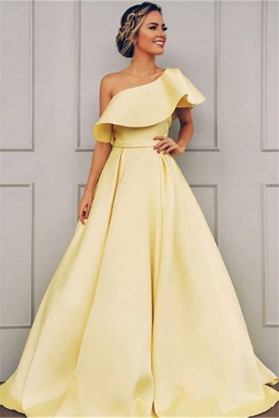 Glorious One Shoulder A-line Prom Dress_1