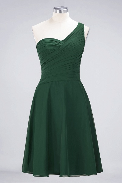 A-Line Chiffon One-Shoulder Sweetheart Sleeveless Knee-Length Bridesmaid Dress with Ruffles_30