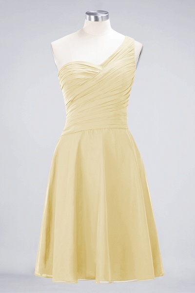 A-Line Chiffon One-Shoulder Sweetheart Sleeveless Knee-Length Bridesmaid Dress with Ruffles_17