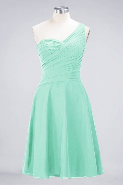 A-Line Chiffon One-Shoulder Sweetheart Sleeveless Knee-Length Bridesmaid Dress with Ruffles_34