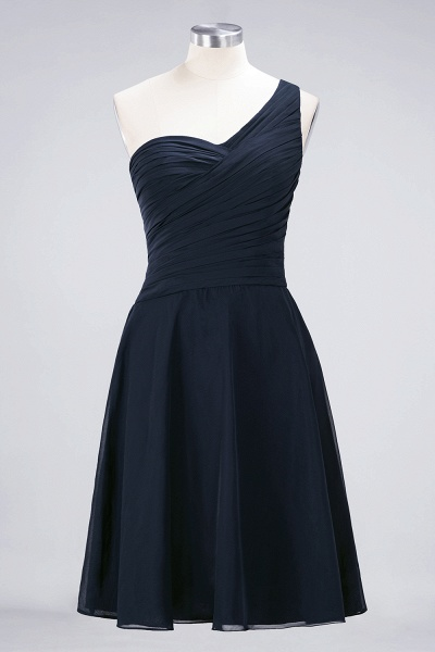 A-Line Chiffon One-Shoulder Sweetheart Sleeveless Knee-Length Bridesmaid Dress with Ruffles_27