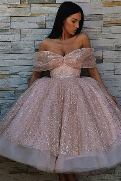 Excellent Off-the-shoulder Tulle Ball Gown Prom Dress_1