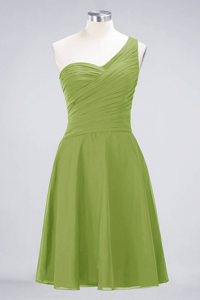 A-Line Chiffon One-Shoulder Sweetheart Sleeveless Knee-Length Bridesmaid Dress with Ruffles_32