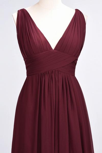 A-Line Chiffon V-Neck Sleeveless Floor-Length Bridesmaid Dress with Ruffle_38