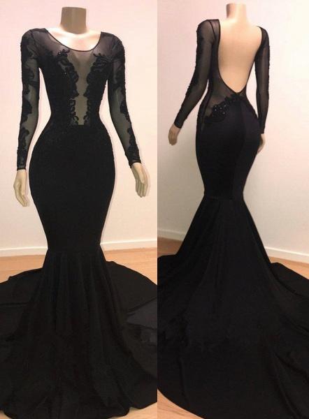Marvelous Scoop Tulle Mermaid Prom Dress_1