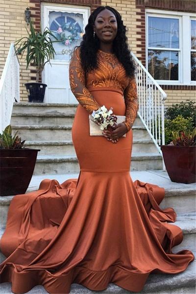 Fascinating Jewel Appliques Mermaid Prom Dress_1