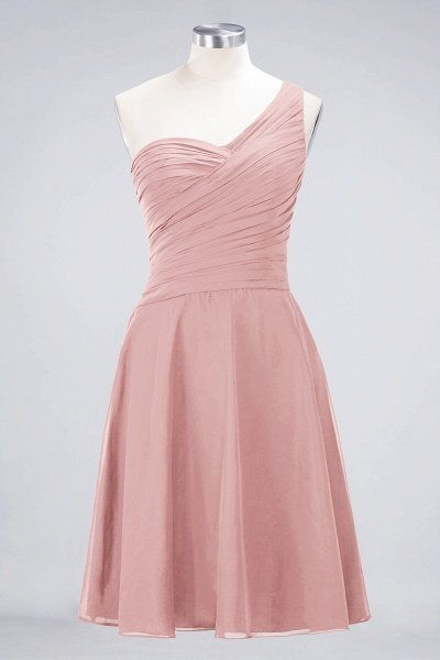 A-Line Chiffon One-Shoulder Sweetheart Sleeveless Knee-Length Bridesmaid Dress with Ruffles_6