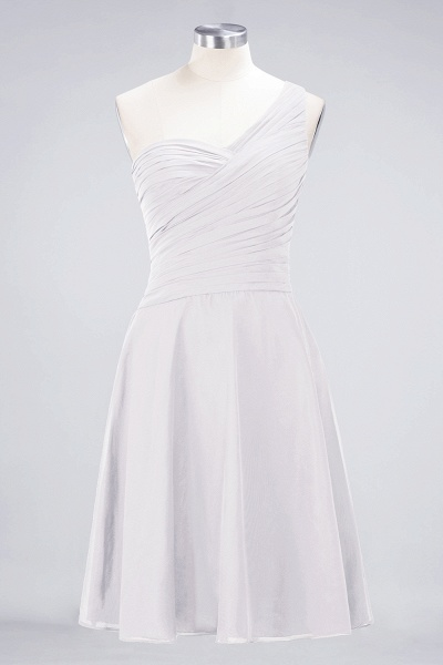 A-Line Chiffon One-Shoulder Sweetheart Sleeveless Knee-Length Bridesmaid Dress with Ruffles_1