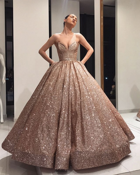 Awesome Strapless Ball Gown Prom Dress_4