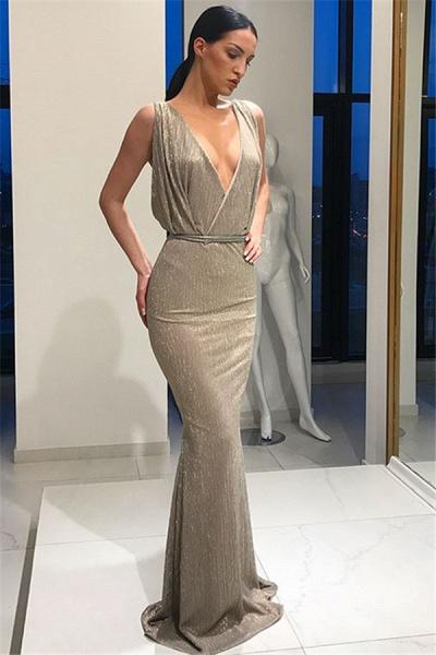 Latest V-neck Mermaid Prom Dress_5