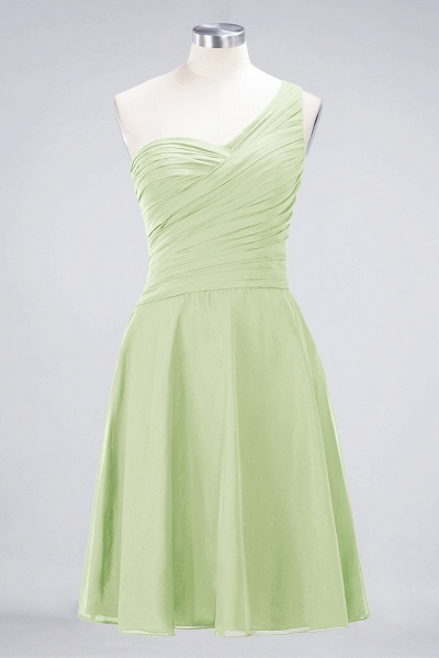 A-Line Chiffon One-Shoulder Sweetheart Sleeveless Knee-Length Bridesmaid Dress with Ruffles_33