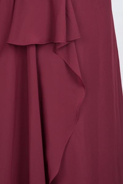 A-Line Chiffon Halter V-Neck Sleeveless Floor-Length Bridesmaid Dress with Ruffle_7