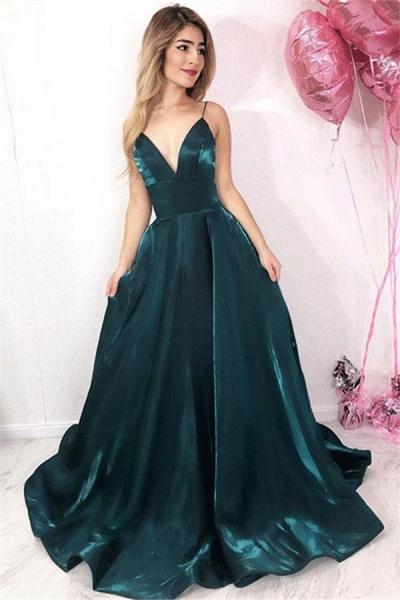 Precious V-neck A-line Prom Dress_1