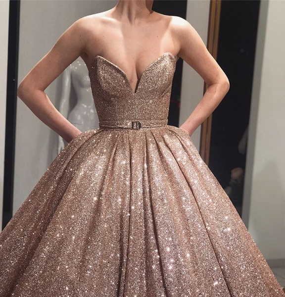 Awesome Strapless Ball Gown Prom Dress_3