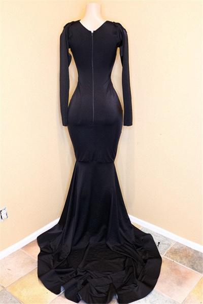 Exquisite V-neck Sequined Mermaid Prom Dress_3