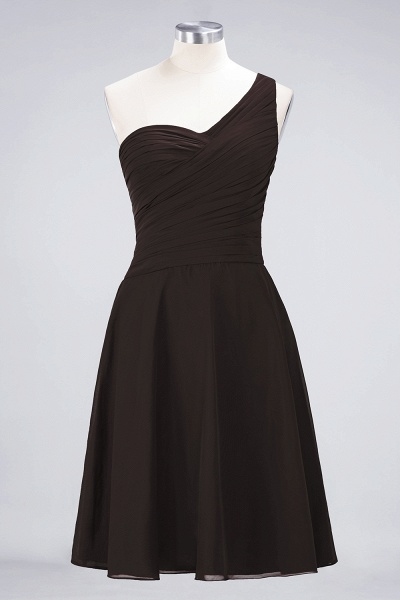 A-Line Chiffon One-Shoulder Sweetheart Sleeveless Knee-Length Bridesmaid Dress with Ruffles_11
