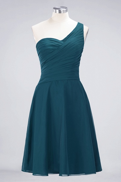 A-Line Chiffon One-Shoulder Sweetheart Sleeveless Knee-Length Bridesmaid Dress with Ruffles_26