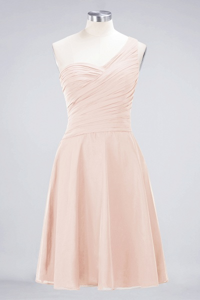 A-Line Chiffon One-Shoulder Sweetheart Sleeveless Knee-Length Bridesmaid Dress with Ruffles_5