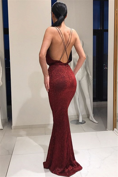 Latest V-neck Mermaid Prom Dress_3