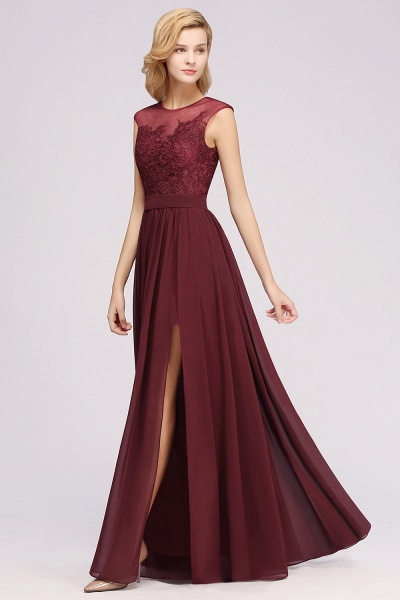 A-line Chiffon Lace Jewel Sleeveless Floor-Length Bridesmaid Dresses with Appliques_54