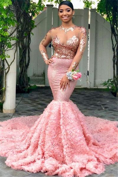 Sleek Jewel Tulle Mermaid Prom Dress_1