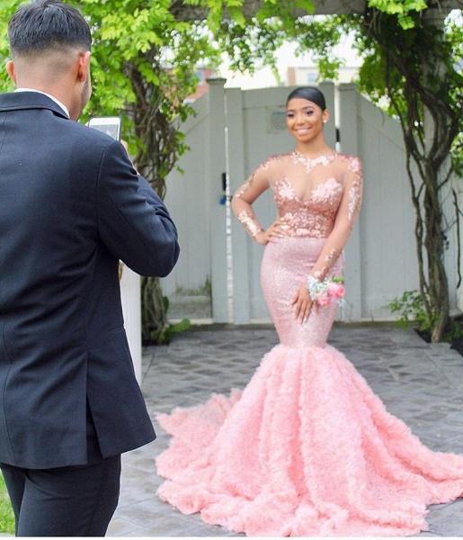 Sleek Jewel Tulle Mermaid Prom Dress_3