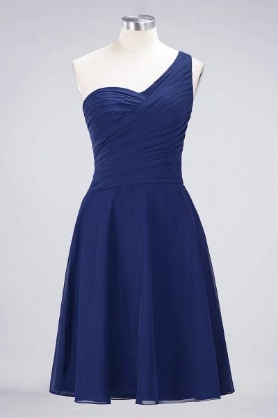 A-Line Chiffon One-Shoulder Sweetheart Sleeveless Knee-Length Bridesmaid Dress with Ruffles_25