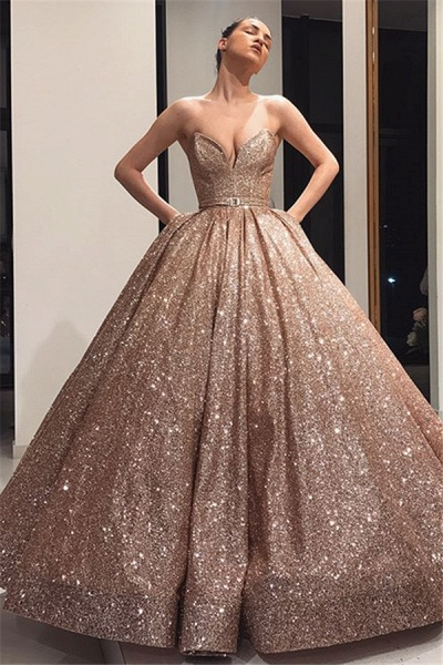 Awesome Strapless Ball Gown Prom Dress_1