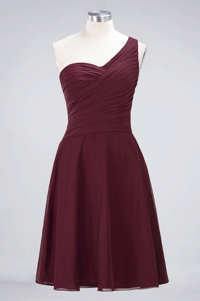 A-Line Chiffon One-Shoulder Sweetheart Sleeveless Knee-Length Bridesmaid Dress with Ruffles_10