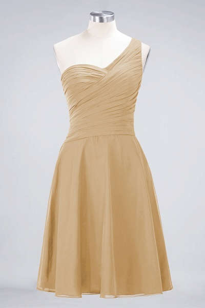 A-Line Chiffon One-Shoulder Sweetheart Sleeveless Knee-Length Bridesmaid Dress with Ruffles_13