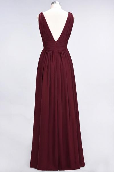 A-Line Chiffon V-Neck Sleeveless Floor-Length Bridesmaid Dress with Ruffle_36