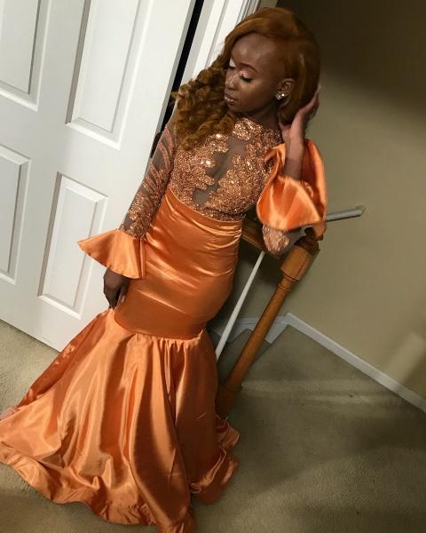 Elegant Jewel Sequined Mermaid Prom Dress_3