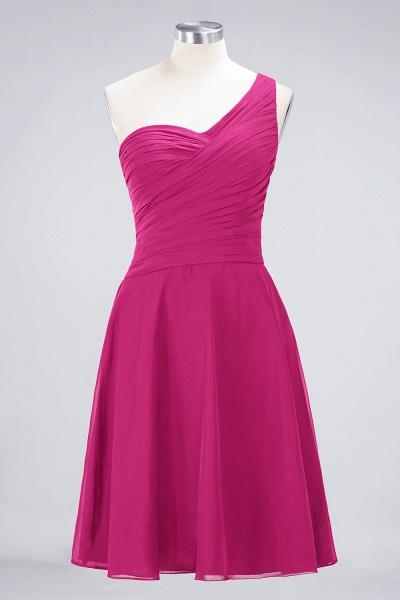 A-Line Chiffon One-Shoulder Sweetheart Sleeveless Knee-Length Bridesmaid Dress with Ruffles_9