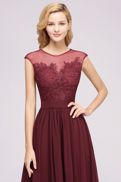 A-line Chiffon Lace Jewel Sleeveless Floor-Length Bridesmaid Dresses with Appliques_55