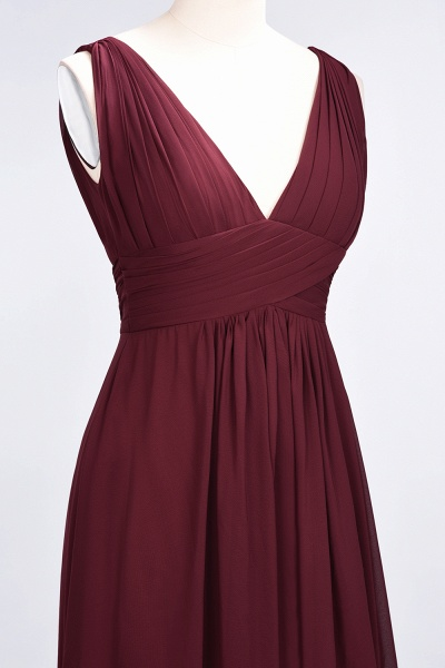 A-Line Chiffon V-Neck Sleeveless Floor-Length Bridesmaid Dress with Ruffle_39