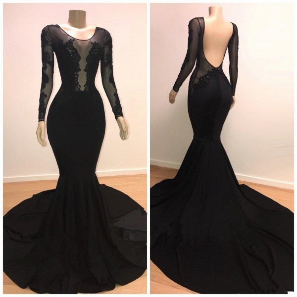 Marvelous Scoop Tulle Mermaid Prom Dress_3