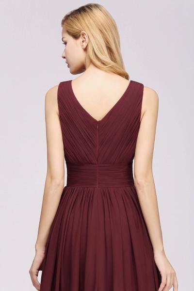 BM0214 A-Line Chiffon V-Neck Sleeveless Long Bridesmaid Dress_8