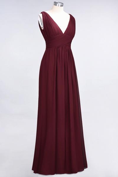 A-Line Chiffon V-Neck Sleeveless Floor-Length Bridesmaid Dress with Ruffle_37
