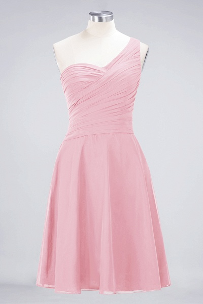 A-Line Chiffon One-Shoulder Sweetheart Sleeveless Knee-Length Bridesmaid Dress with Ruffles_4