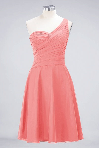 A-Line Chiffon One-Shoulder Sweetheart Sleeveless Knee-Length Bridesmaid Dress with Ruffles_7