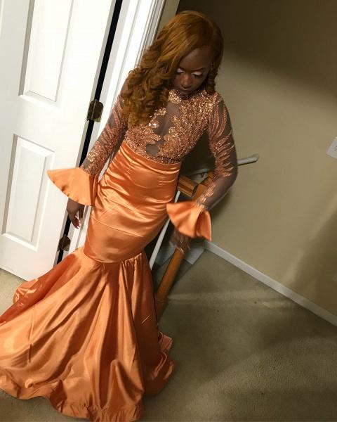 Elegant Jewel Sequined Mermaid Prom Dress_1