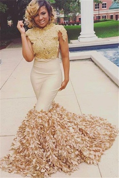 Best Jewel Appliques Mermaid Prom Dress_3