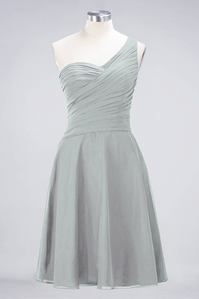 A-Line Chiffon One-Shoulder Sweetheart Sleeveless Knee-Length Bridesmaid Dress with Ruffles_29