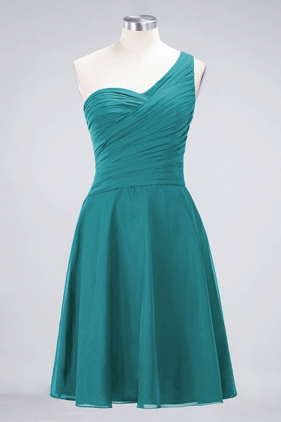 A-Line Chiffon One-Shoulder Sweetheart Sleeveless Knee-Length Bridesmaid Dress with Ruffles_31