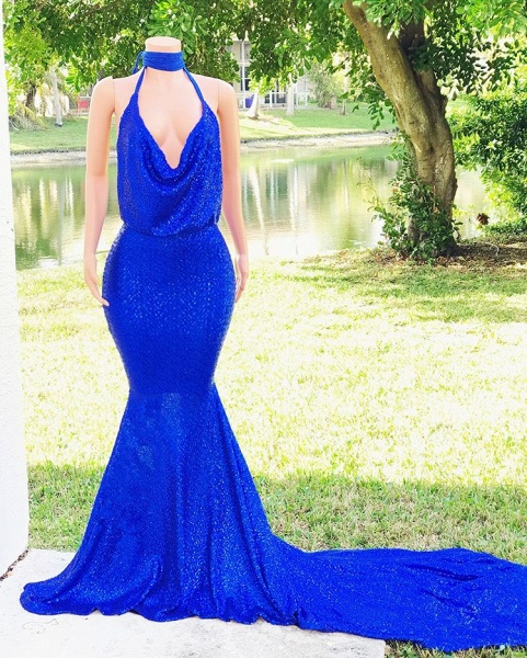 Beautiful V-neck Mermaid Prom Dress_4