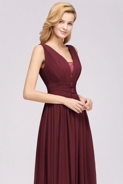 BM0214 A-Line Chiffon V-Neck Sleeveless Long Bridesmaid Dress_7