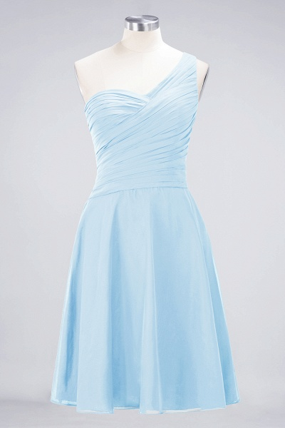 A-Line Chiffon One-Shoulder Sweetheart Sleeveless Knee-Length Bridesmaid Dress with Ruffles_22