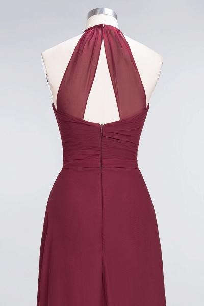 A-Line Chiffon Halter V-Neck Sleeveless Floor-Length Bridesmaid Dress with Ruffle_6